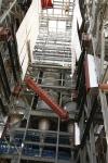 Steam drum lift (looking up from below in boiler building)