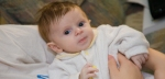Aiden Perkins has Langerhans cell histiocytosis at two months old.