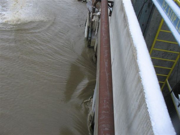 Water intake at Leland Olds Station: March 27, 2009