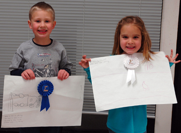 Conner Stethem and McKenna Grey, Junior Kindergarten winners