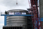 Topping out the steel at Leland Olds Emission Control Project