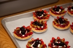 Tortes, a treat served at the luncheon.
