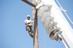 Williston-to-Tioga transmission line construction