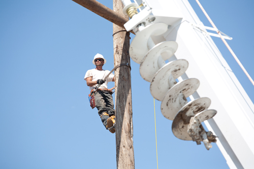 Williston-to-Tioga transmission line construction