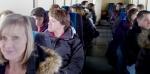 Teachers on wind turbine tour