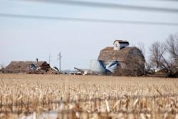 tornado-ravaged farm yard