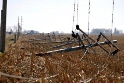 transmission lines taken down by a tornado