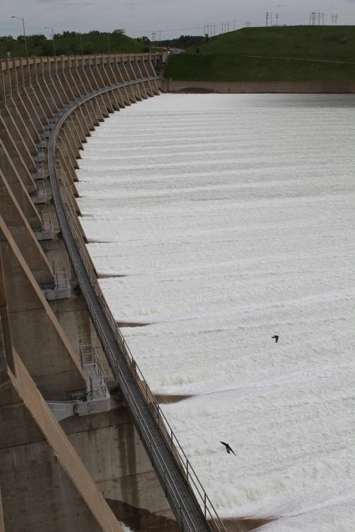 Garrison Dam spillway 2011