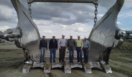 Daugaard tour at Freedom Mine