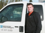 Cameron Fleck, BEPC apprentice communications technician.