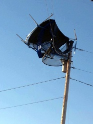 Trampoline on transmission line