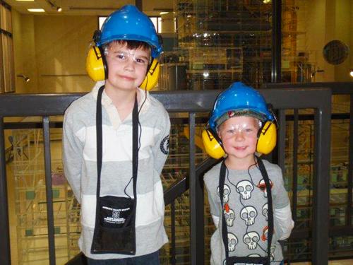 Boys tour North Dakota Energy Trail