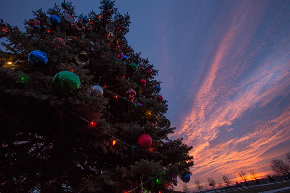 Christmas tree decorating at basin electric video u basin