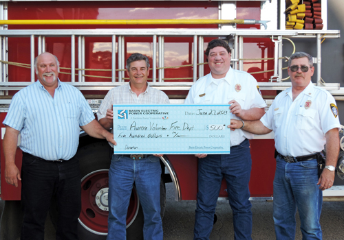 Donation to fire stations