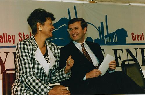 Hazel O'Leary and Kent Conrad