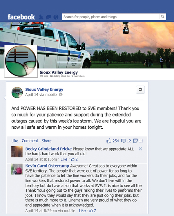 Sioux Valley Energy Facebook