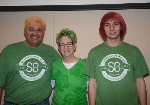 Kevin Crose, Operator Technician, Lynn Warnke, & Kyle Crose decided to have a little fun with their hair before shaving it off!