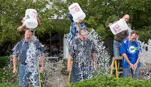 Ice Bucket Challenge at Basin Electric.