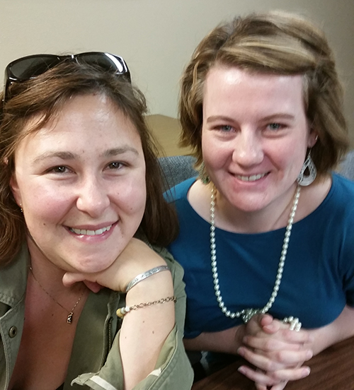 Erin Huntimer and Katie Ryan-Anderson, champions of #CoopClipND