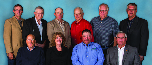 The Basin Electric Resolutions Committee (back, from left): David Sigloh, John Van Beek, Troy Presser, Jack Finnerty, David Meschke, Louis C. Reed; (front, from left) Leslie Mehlhaff, Melanie Roe, Philip Habeck and Don Feldman.
