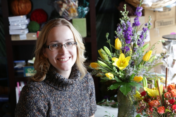 Elizabeth Redding, owner of Bloom in Color mobile floral service.