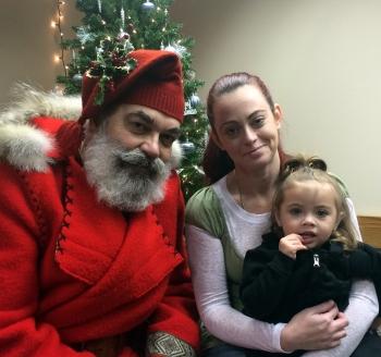Santa at Welcome House