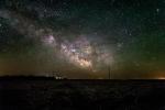 The Milky Way over a farm in central South Dakota.  Photo credit: Randy Halverson