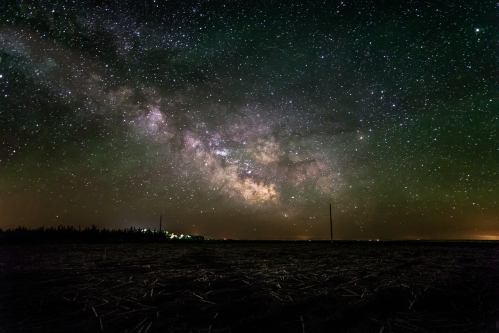 The Milky Way over a farm in central South Dakota.  Photo credit: Randy Halverson