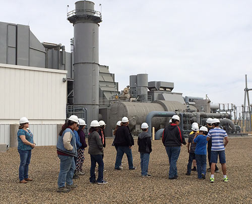Students from Poplar, MT, visiting Culbertson Generation Station.