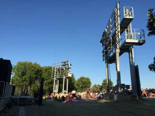 A view of the new light towers at the Sleepy Hollow Summer Theater in Bismarck, ND. The non-profit summer theater was able to purchase and install the towers thanks to a contribution from Basin Electric's Charitable Giving Program.