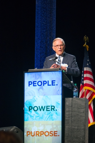 Former U.S. Senator Byron Dorgan was the keynote speaker at Basin Electric's 2015 Annual Meeting.