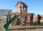 Installing swing set