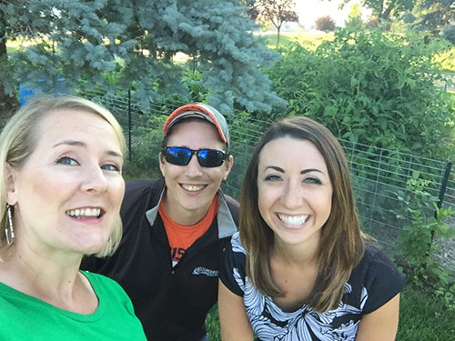 Bettenhausen took a selfie with Kaitlyn Wurning, KXMB CBS 12 reporter, and Sinclair Hugh, KXMB CBS 12 videographer.