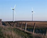 Wind turbines and fenceline