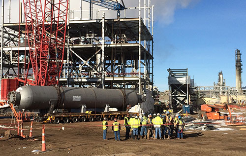Urea construction site at Great Plains Synfuels Plant: March 2016.