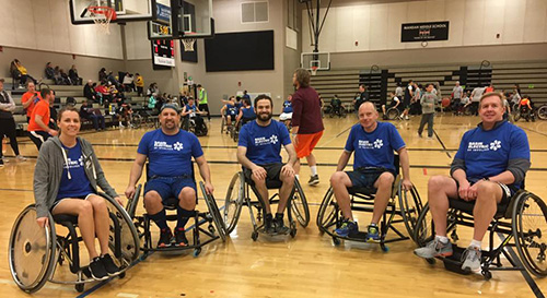 wheelchair basketball team