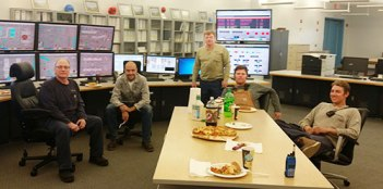Dry Fork Station A Crew. (Left to right) Floyd Bryant, Jacob Rust, Dan Manitz, Steve Schnell, and Dominic Moore.