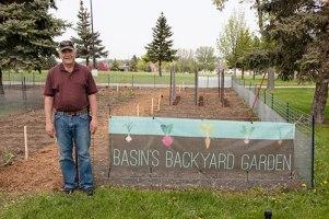 Bill Baer organized Basin's Backyard Garden this year.