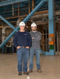 """Tom Wanner and Jesse Jordan were two of the employees who served as procurement's """"boots on the ground"""" during this spring's plant outages."""