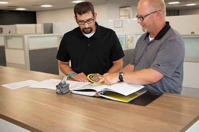 Jesse Jordan and Tom Wanner hard at work.