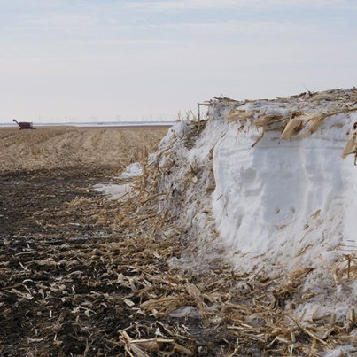 Farmers had to plow through snow drifts to get to their fields.